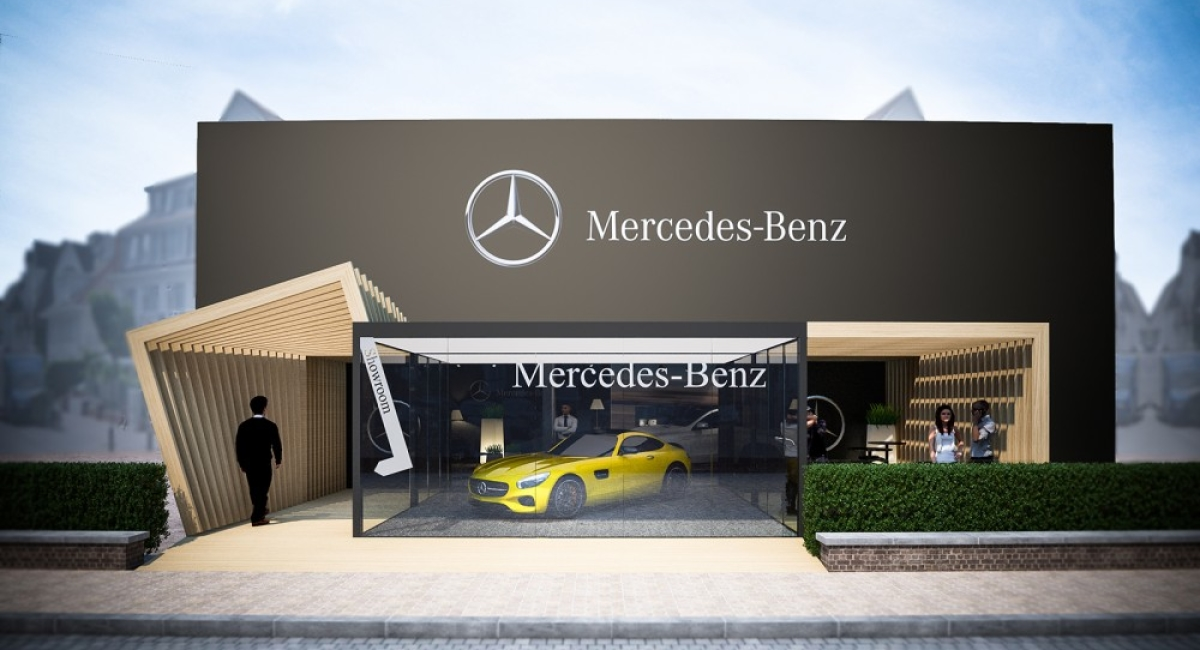 Pop-Up store AMG/MERCEDES-BENZ à Knokke-le-Zoute