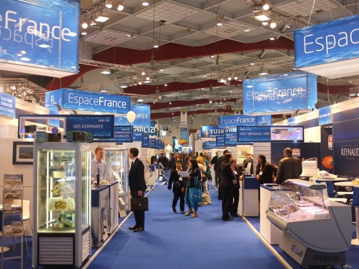 Stand 'Ombrelle' Franceagrimer au Salon Seafood Bruxelles
