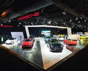 conceptexpo, Porsche, exhibition booth desing, exhibition stand builder, stand design