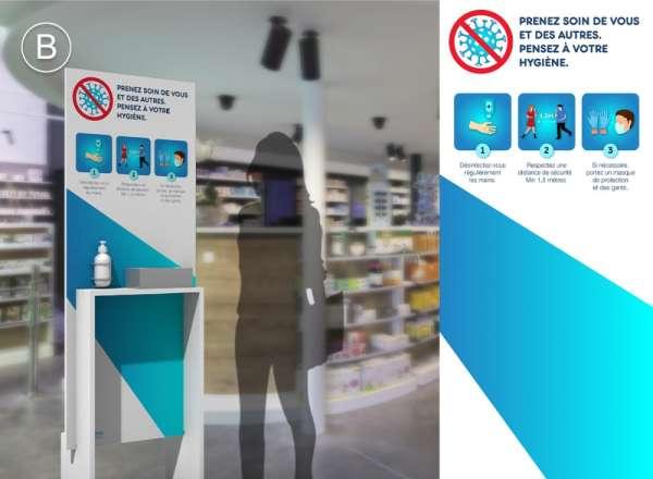 Images panneaux hygiènes