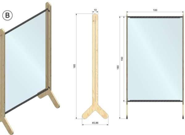 Dimensions panneaux coiffeurs, bureaux