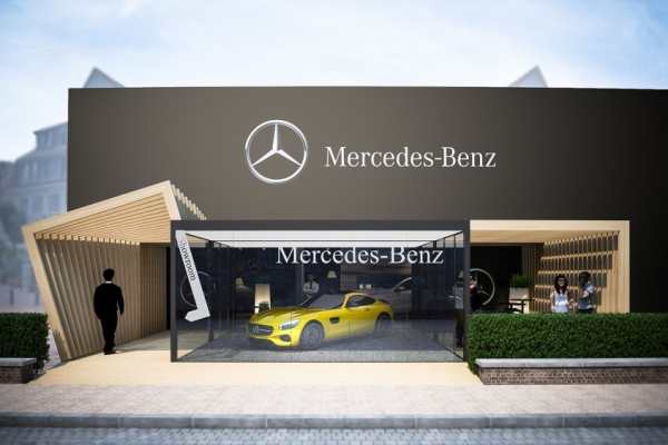 Pop-Up store AMG/MERCEDES-BENZ à Knokke-le-Zoute
