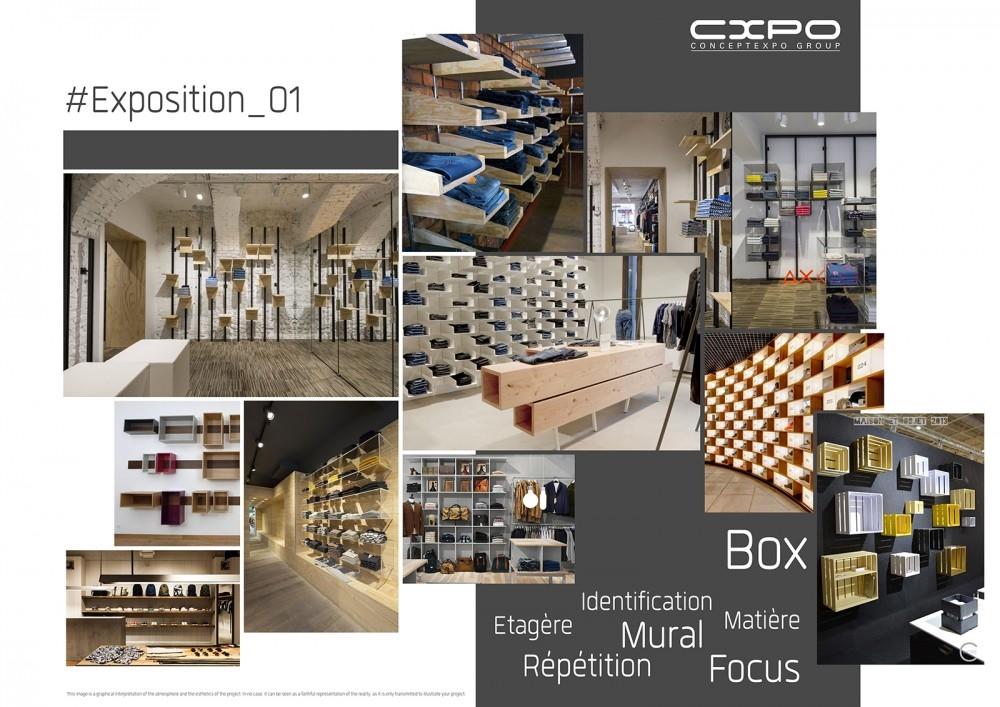 herinrichting van verkoopruimte- réaménagement point de vente -conceptexpo-mood board- bewood- (5)