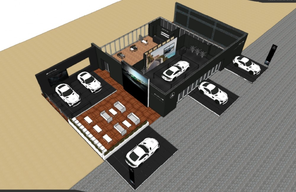 zoute grand prix-conceptexpo-mercedes AMG- pop up store- construction stand - aménagement de stand (1)