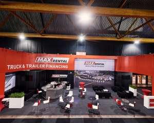 Salon de l'auto, max rental, conceptexpo, construction stand
