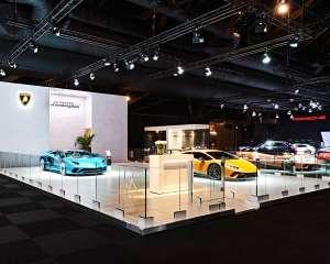 conceptexpo, Lamborghini, création de stand, stand sur mesure, concepteur de stand