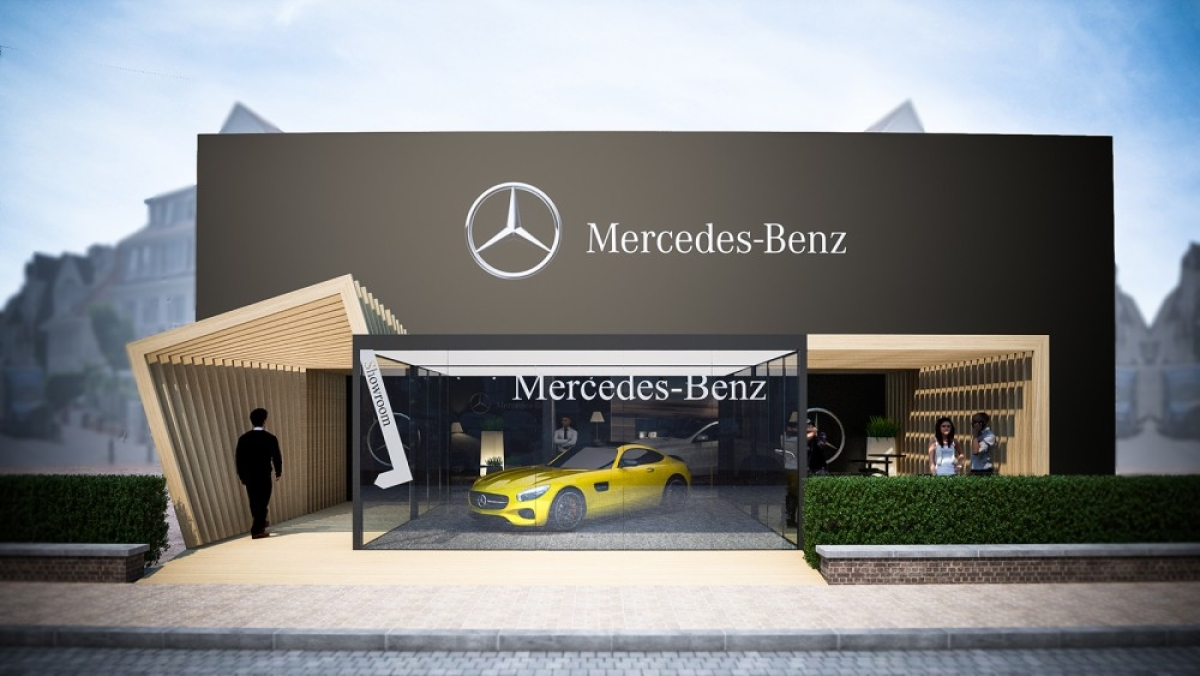 pop up store amg mercedes benz knokke le zoute. Black Bedroom Furniture Sets. Home Design Ideas