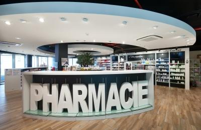 Pharmacie du Triomphe dans le tout nouvel Hôpital Delta du CHIREC