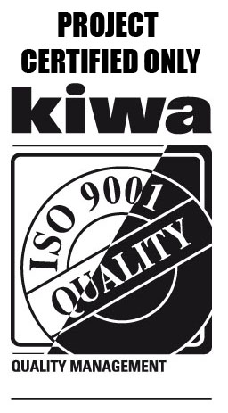 Project certified only Kiwa - ISO 9001