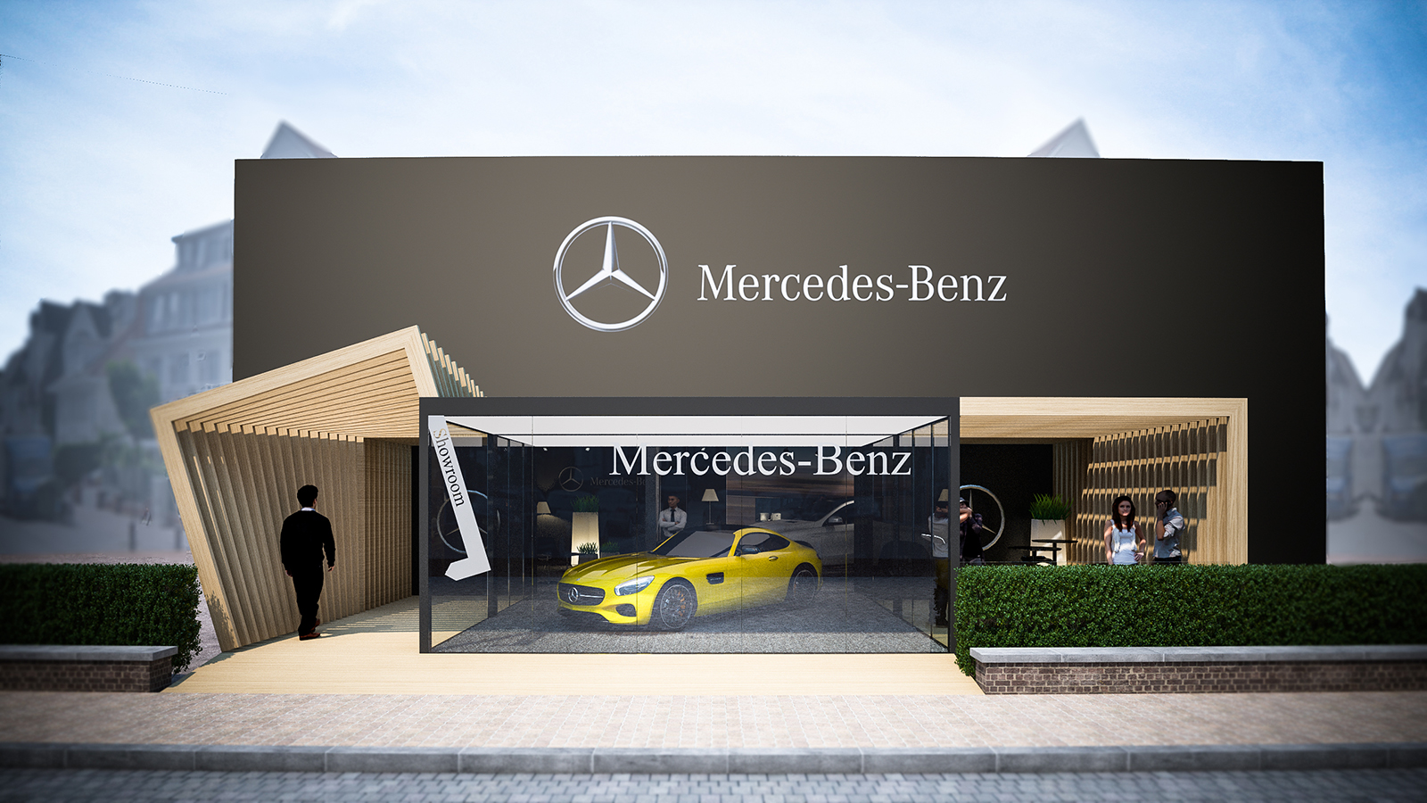 Pop-up store mercedes  - Knokke - conceptexpo - project  (2)