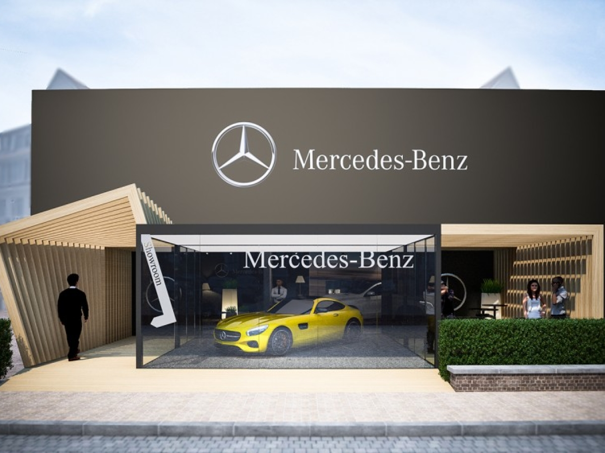 Pop-up stores AMG/MERCEDES-BENZ in Knokke-Heist