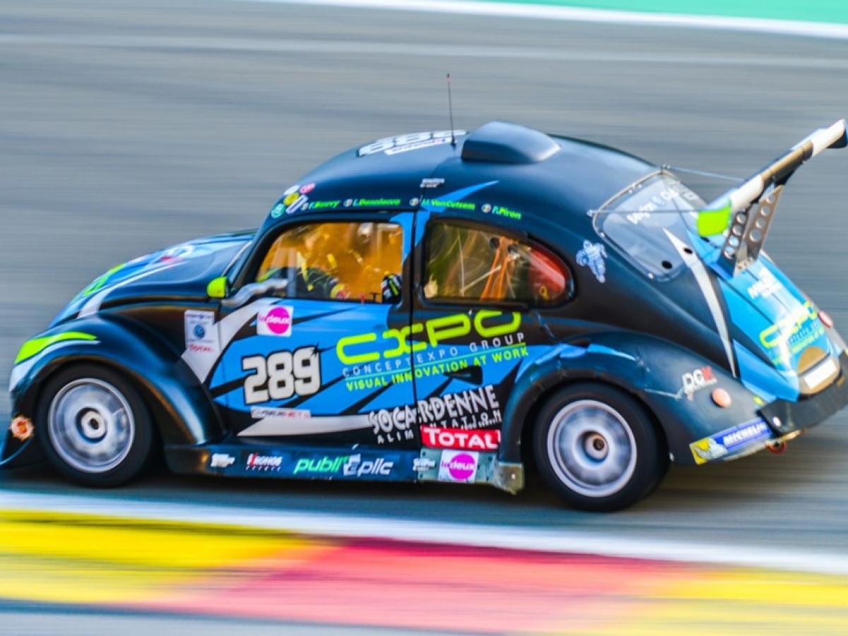 5de positie op 120 voor onze VW Fun Cup tijdens de 25u van Spa-Francorchamps!