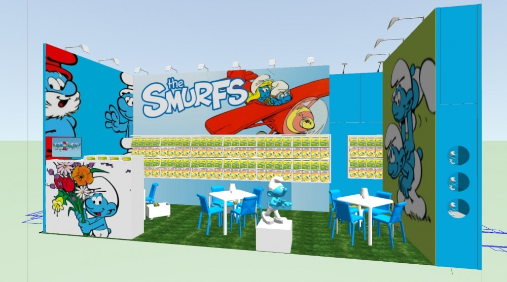 Frankfurt -  book fair - smurf - conceptexpo - stand construction - stand opbouwing