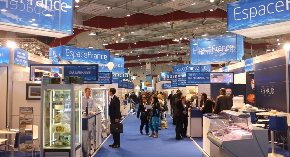 Groepsstand FranceAgriMer op het Seafood Salon
