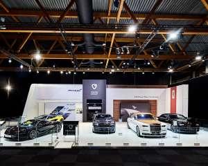 conceptexpo, Ginion, Rolls Royce, Mc Laren, auto/moto beurs, beursstand, standbouw, standbouwer, standenbouw